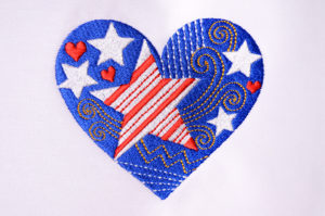 Stars & Stripes Heart