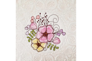 Hibiscus Quilt Block