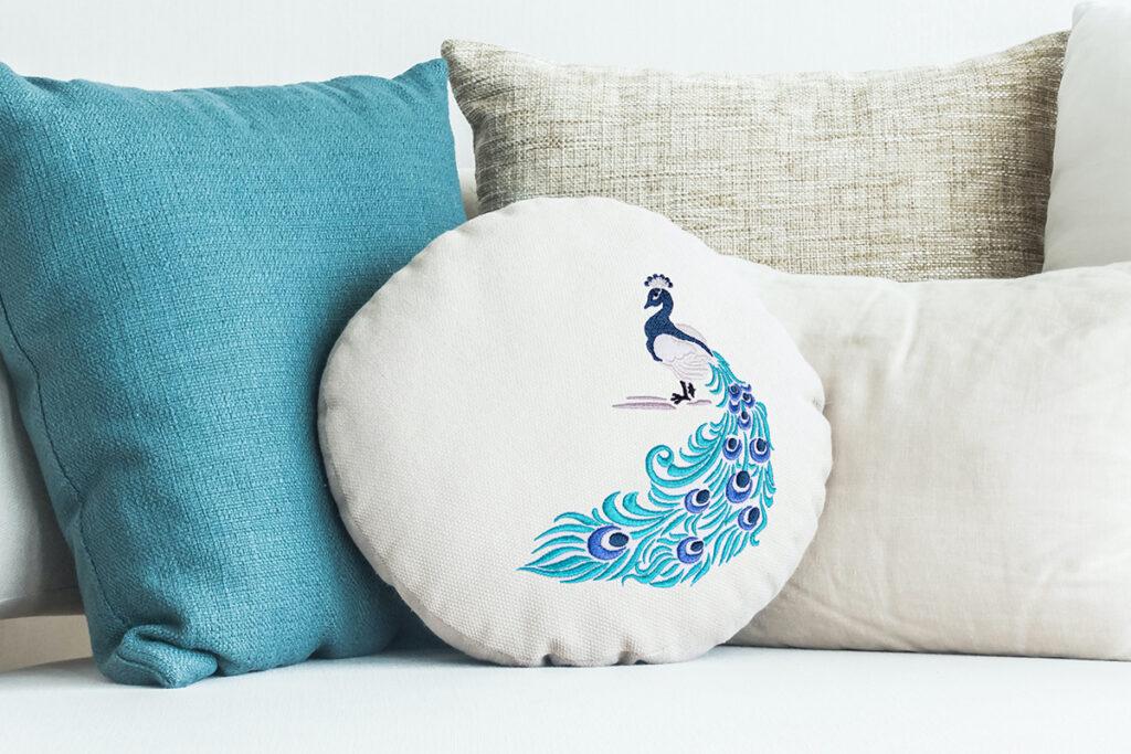 Peacock free machine embroidery design